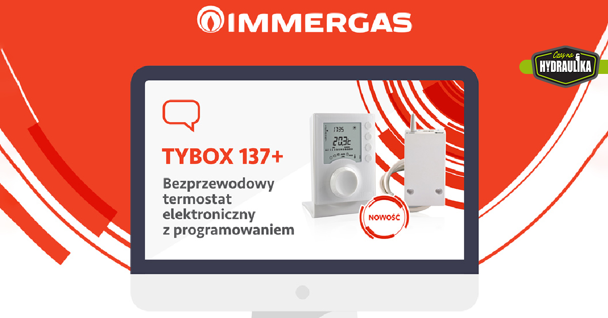 termostat TYBOX 137+ na ekranie komputera