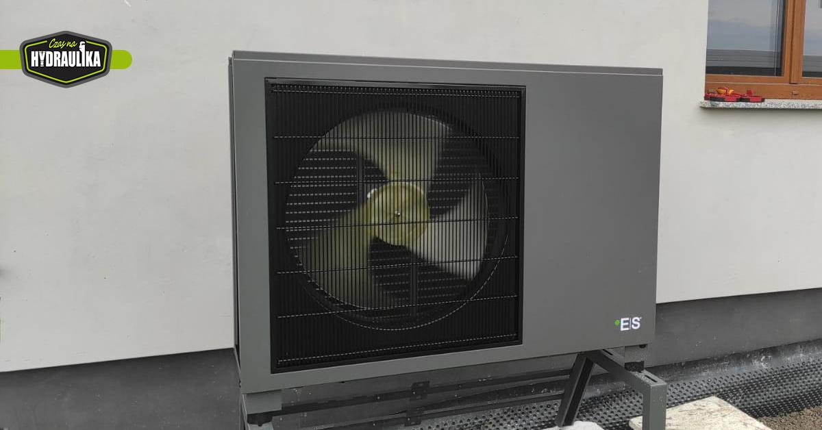 pompa ciepła Energy Save zainstalowana przy białym budynku